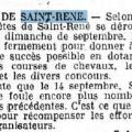Article Ouest-Eclair fête à Saint René